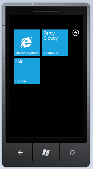 Secondary Live WX Tiles with Conditions