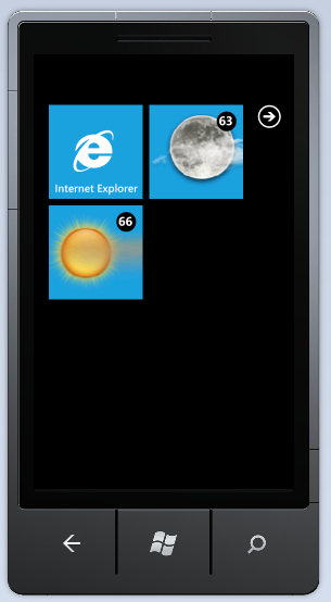 Secondary Live WX Tiles with Temp